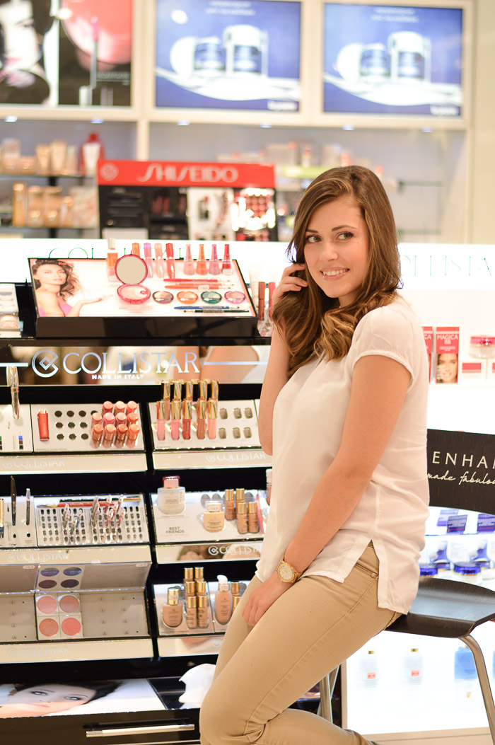 Makeup session with Collistar Debenhams Bulgaria Mall Denina Martin