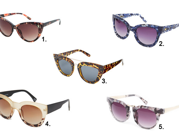 Five Fashion Favorites Sunglasses