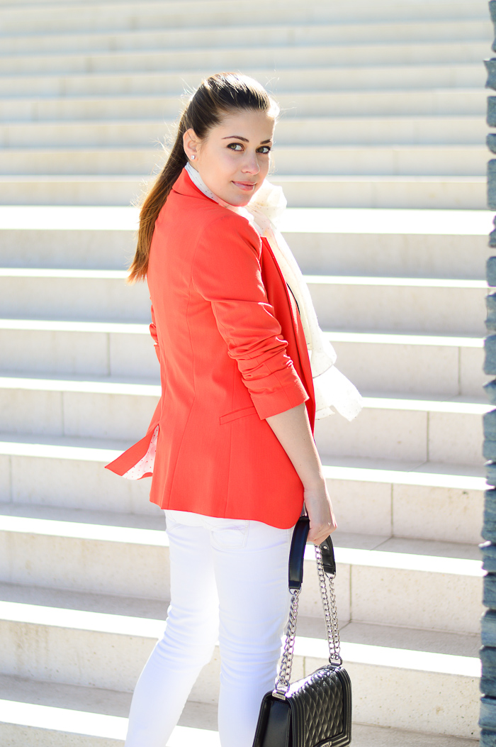Orange Blazer Denina Martin