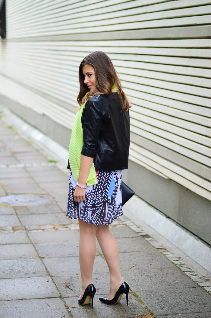 Bulgarian Fashion Blogger Denina Martin wearing the Desigual Natalia dress from the Lacroix collection