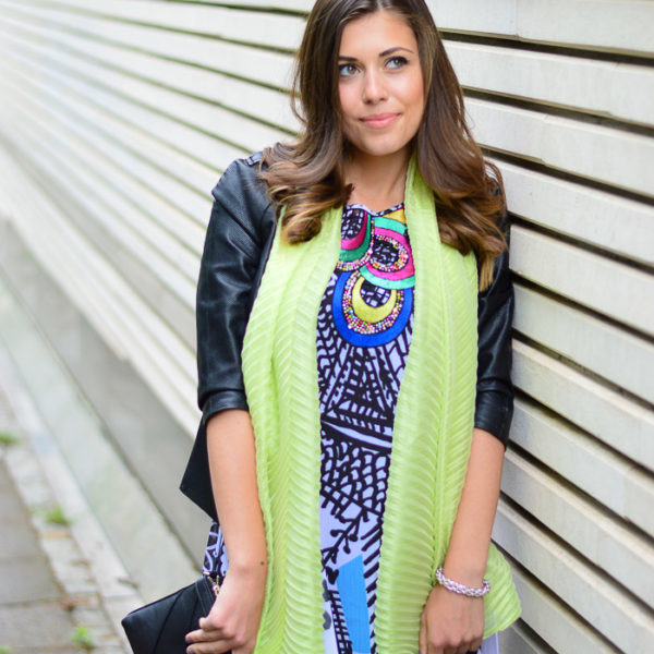Desigual Natalia Dress Liu Jo Scarf Styled by Denina Martin