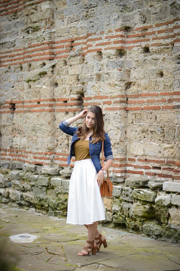 Denim on Denim Old Town Nessebar Travel Outfit by Denina Martin