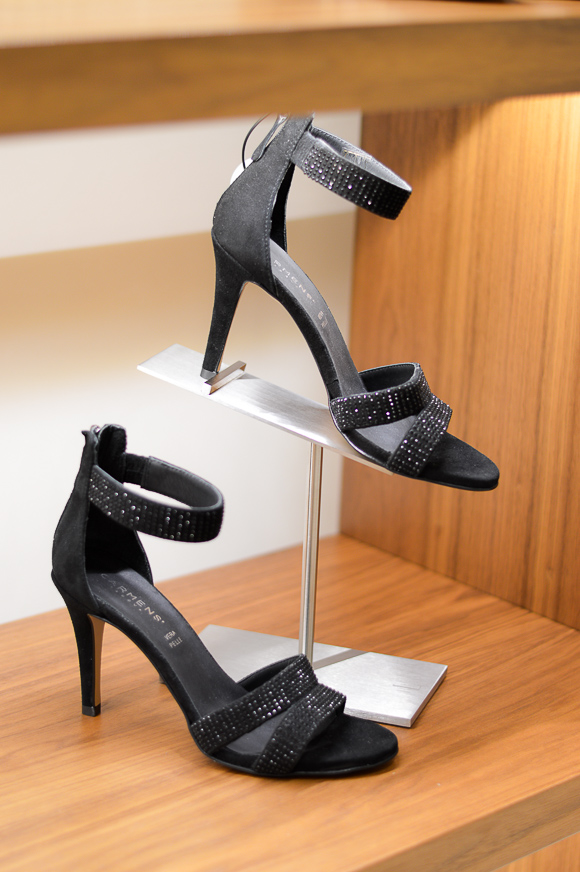 Carmens Vera Pelle Black Heeled Sandals available at Bulgaria Mall, selected by Denina Martin