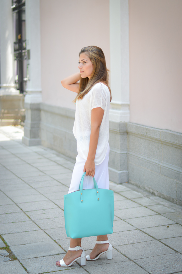 Bulgarian Fashion Blogger Denina Martin Wearing Total Stefanel Look from Bulgaria Mall