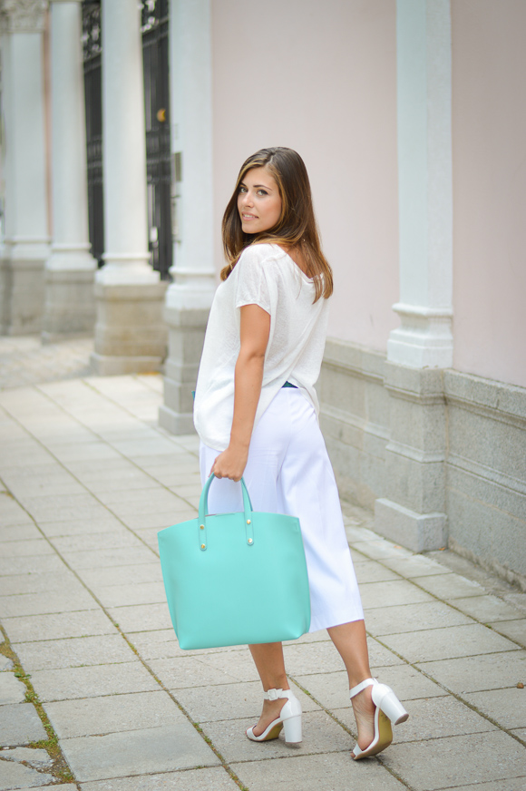 Denina Martin Wearing Culottes