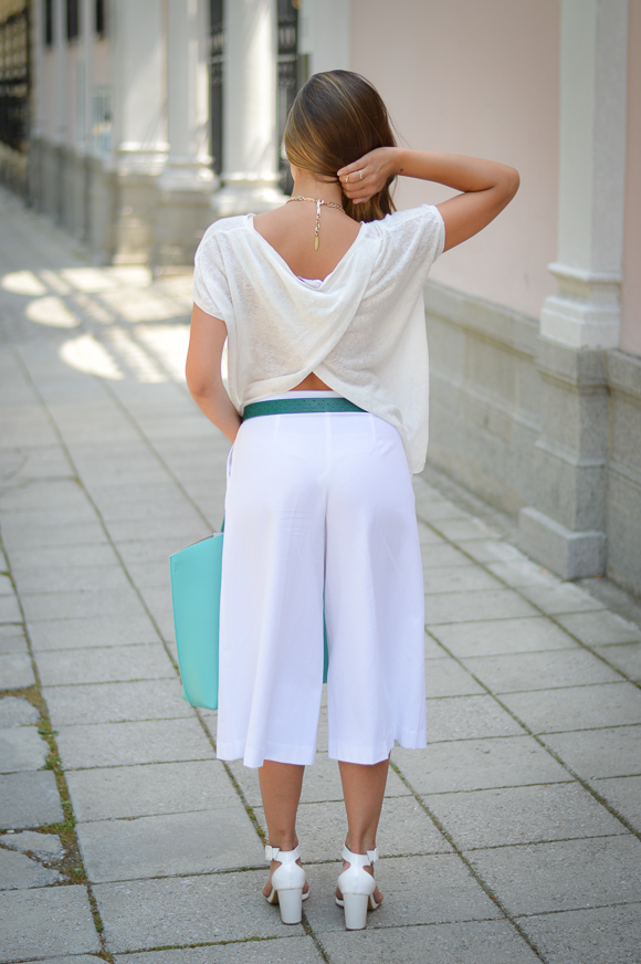 Bulgarian Fashion Blogger Denina Martin Wearing Stefanel Culottes