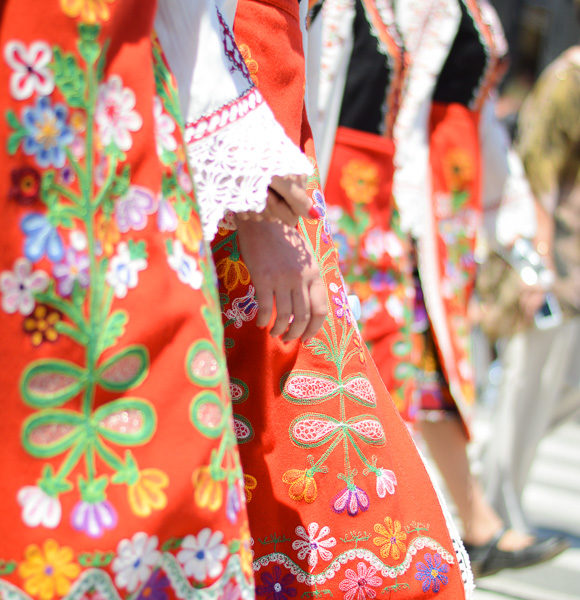 Bulgarian Traditional Garment during the Rose Festival in Kazanlak