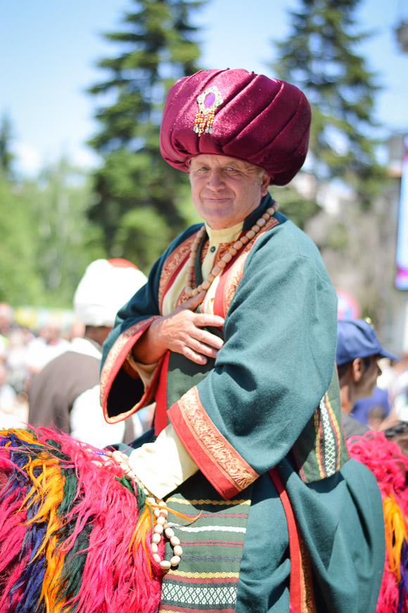 Cultures living together during the Rose Festival in Kazanlak