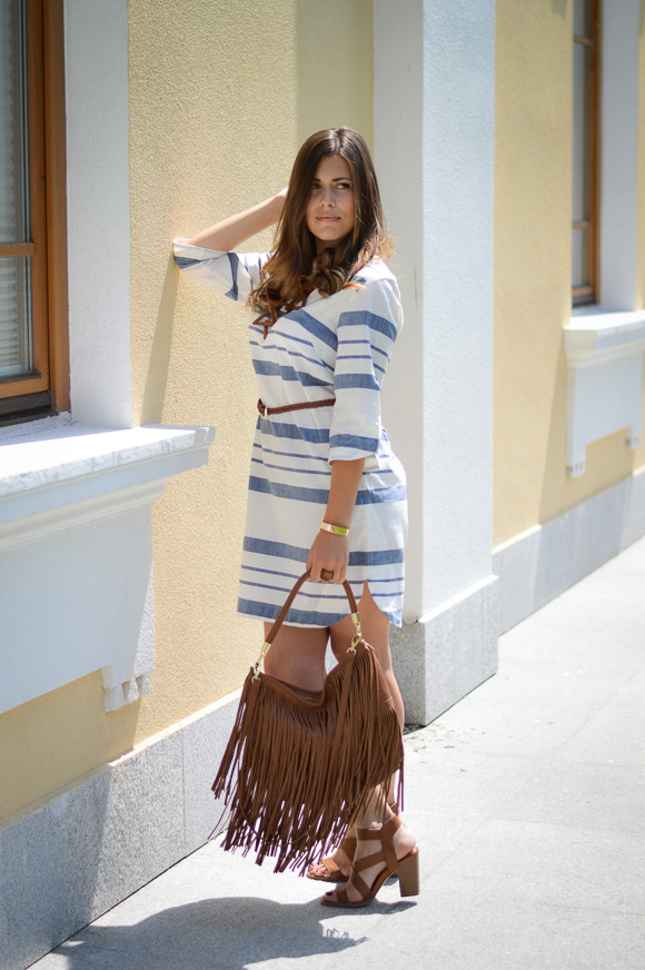 H&M Stripe Summer Dress Bulgaria Mall - Styled by Denina Martin