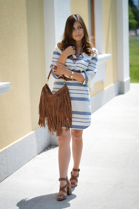 Chic Stripes and Fringe Styled by Denina Martin