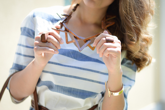 Wooden Necklace by H&M at Bulgaria Mall - Styled by Denina Martin