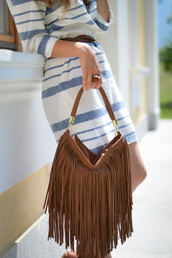 Fringe Handbag by H&M at Bulgaria Mall - Styled by Denina Martin