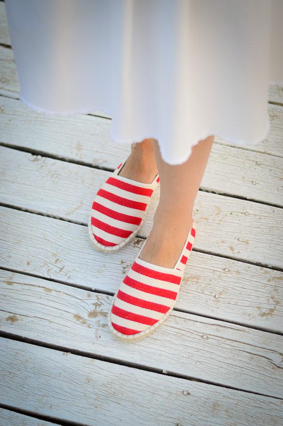 Red Striped Espadrilles