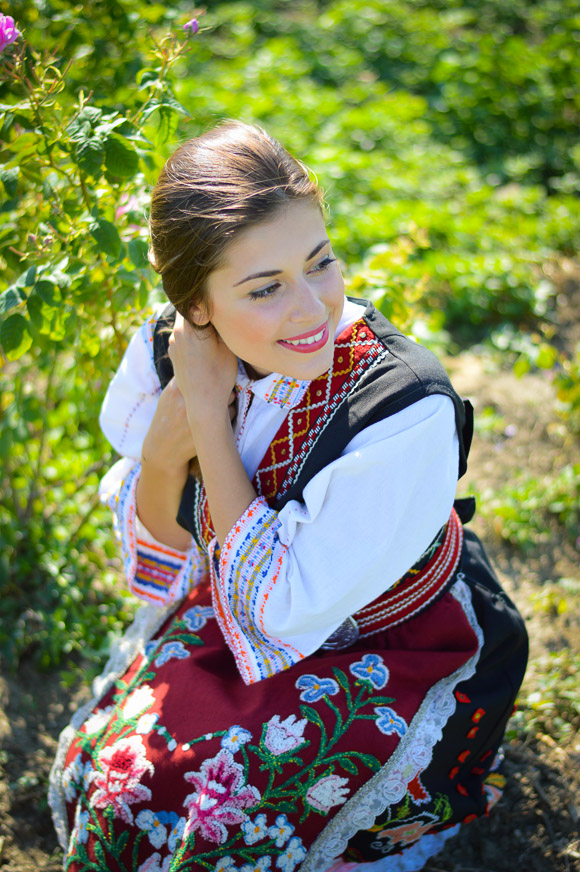 Bulgarian Traditional Attire worn by Bulgarian Fashion Blogger Denina Martin