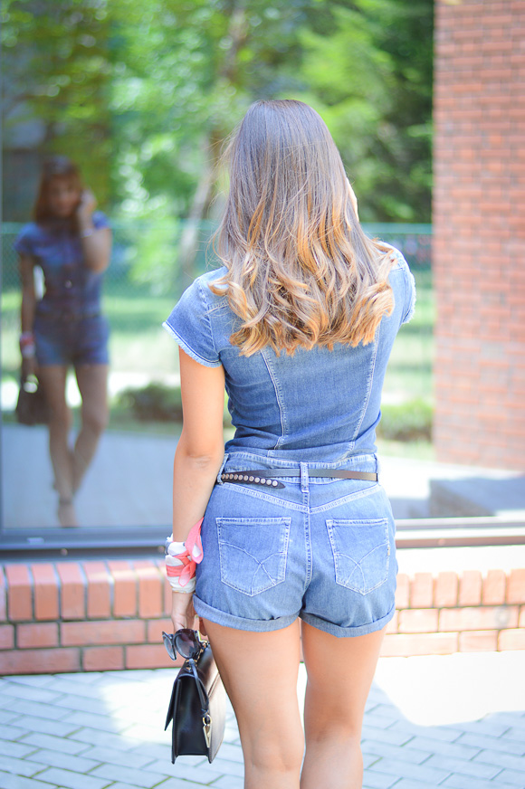 aa52f151b705 ... Denim Romper by Gas Jeans from Bulgaria Mall -styled by Denina Martin