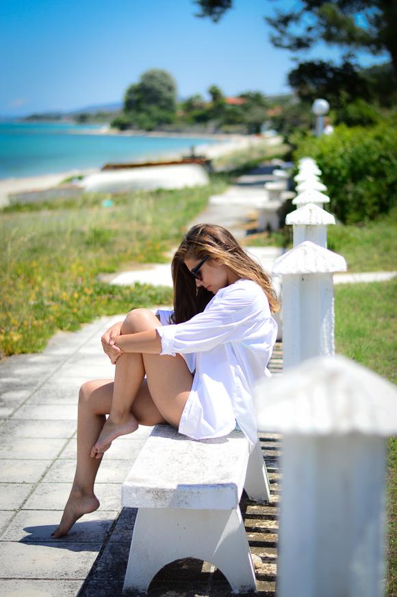 Denina Enjoying the sun and the beach in Halkidiki