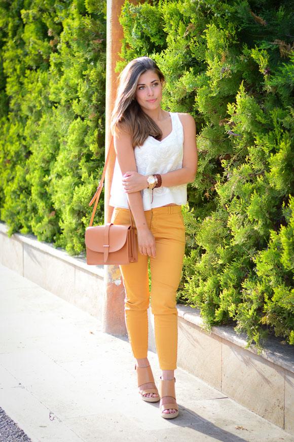 Mustard Pants by Mango styled by Denina Martin