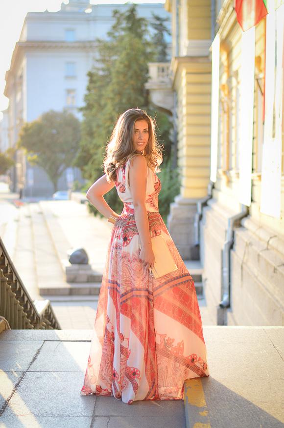 Bohemian Sunset - Denina Martin wearing Catty maxi dress from Bulgaria Mall