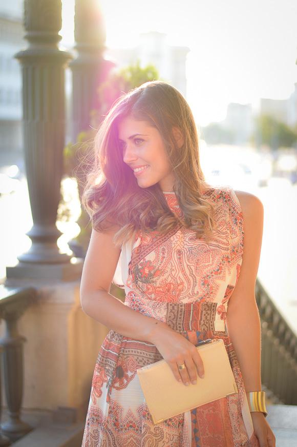 Denina Martin Wearing a bohemian maxi dress from Catty and Bulgaria Mall