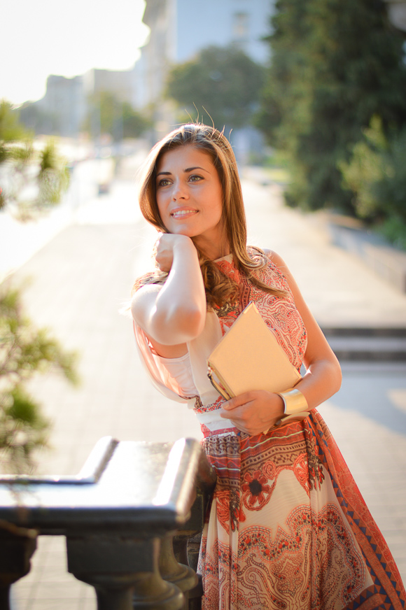 Fashion Blogger at the Romantic Sofia Streets at Sunset