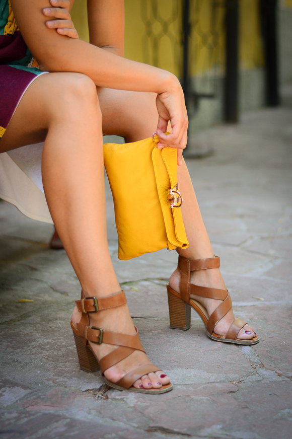 Yellow Clutch styled by Denina Martin