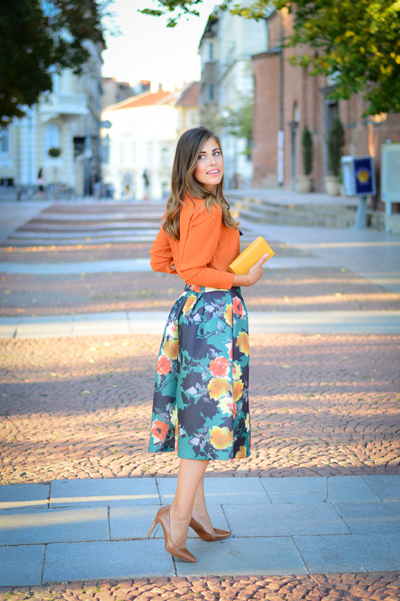 Floral-Skirt-Burnt-Orange-Denina-Martin-Bulgaria-Mall-Katty-2