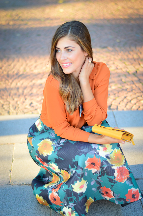 Floral-Skirt-Burnt-Orange-Denina-Martin-Bulgaria-Mall-Katty-5