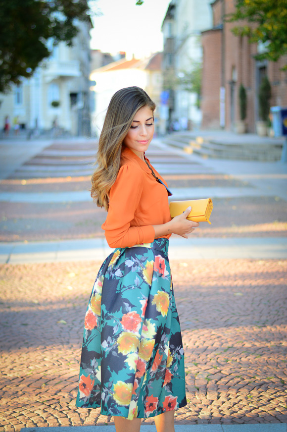 Floral-Skirt-Burnt-Orange-Denina-Martin-Bulgaria-Mall-Katty-8