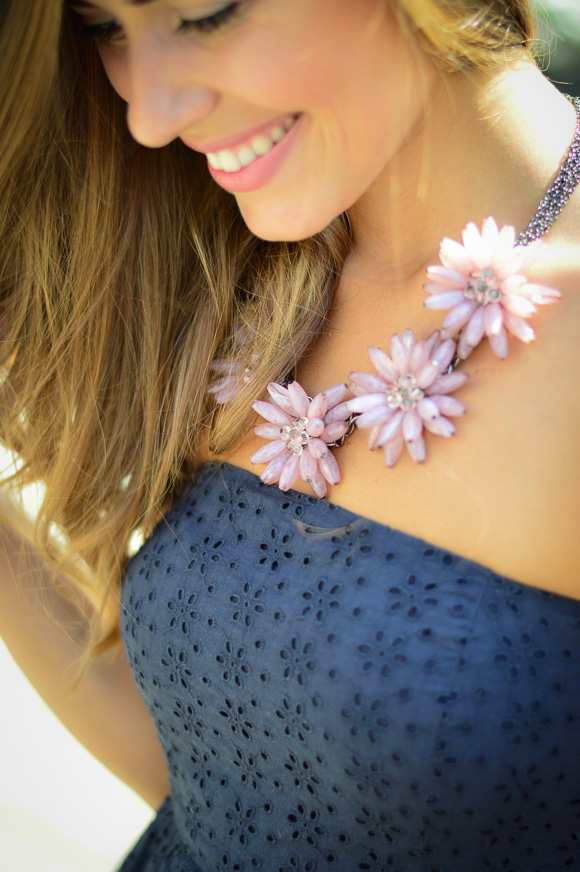 Pink Flower Necklace from Happiness Boutique