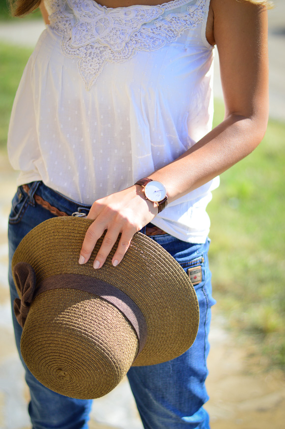 Denina Martin wearing a Daniel Wellington watch