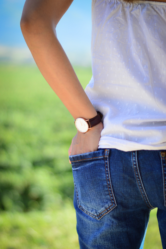 Denina Martin wearing a Daniel Wellington Classy St Mawes watch