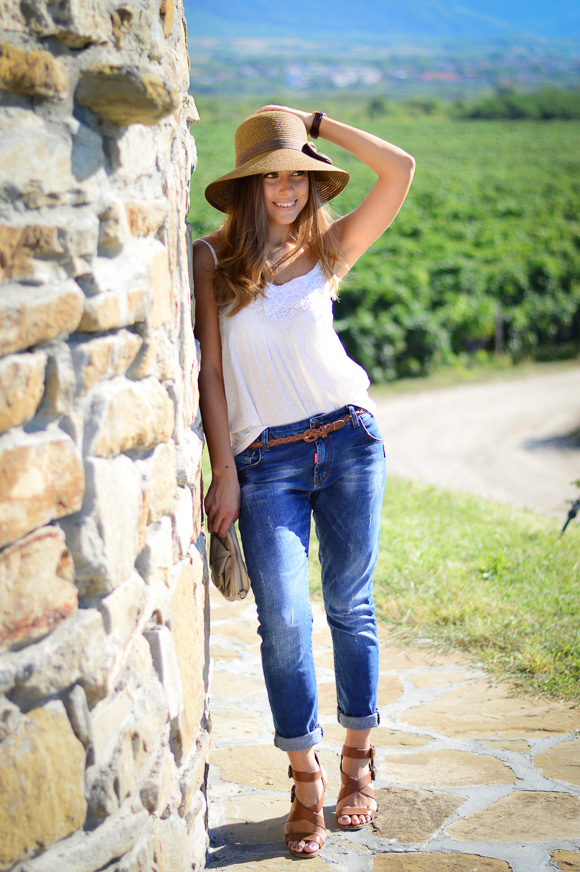 Denina Martin's countryside laid-back look
