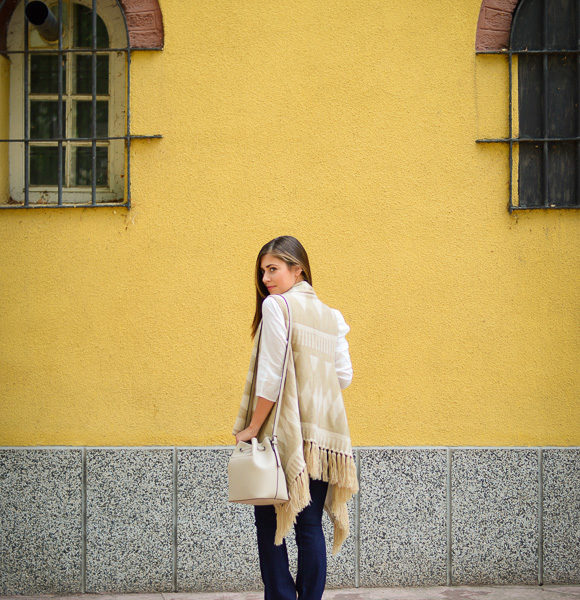 Denina Martin feeling comfy in a poncho by Esprit in Bulgaria Mall