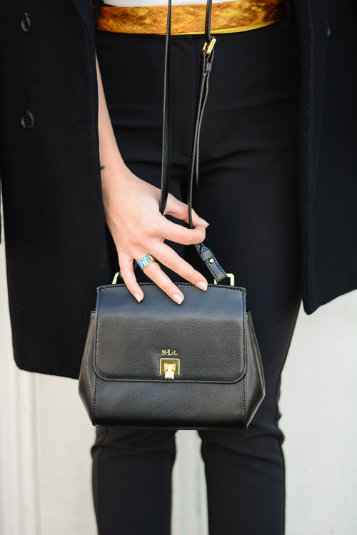 Denina Martin wearing FREYWILLE Orangerie and Ralph Lauren WIthby Cross Body Bag