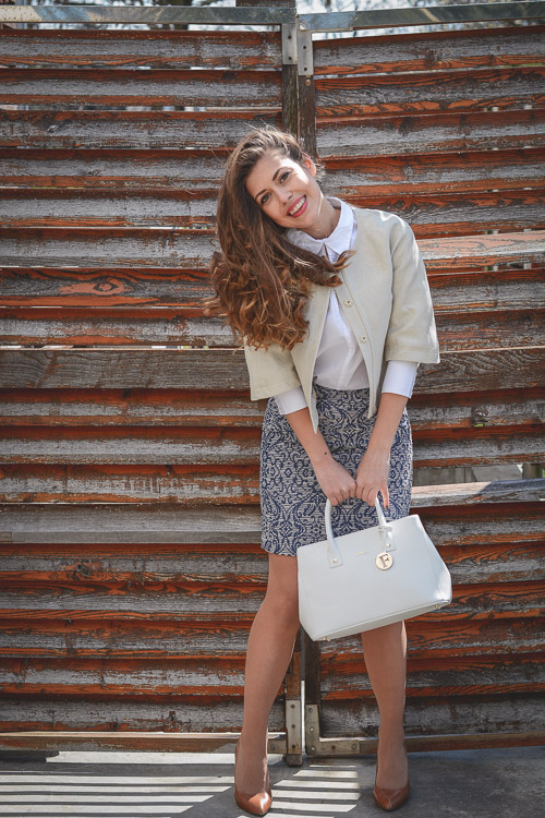 Benetton Lady Chic Work Style Outfit