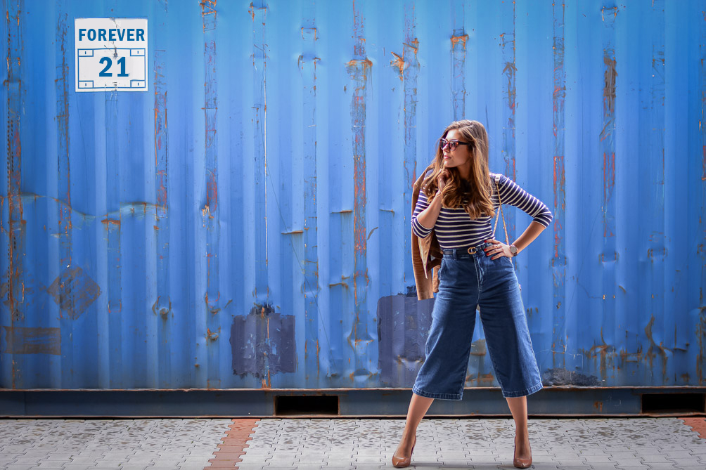 Forever-21-Denim-Culottes-70s-Trend-Blue-Stripes-Denina-Martin-12
