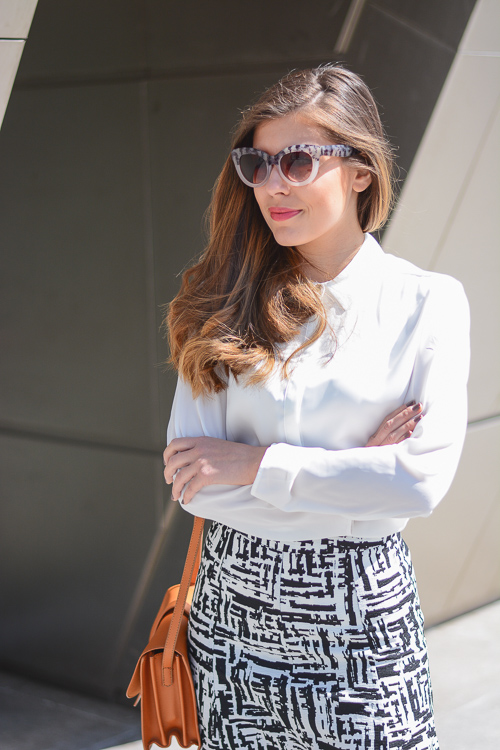 Forever21 Street Style Print Skirt Spring Outfit