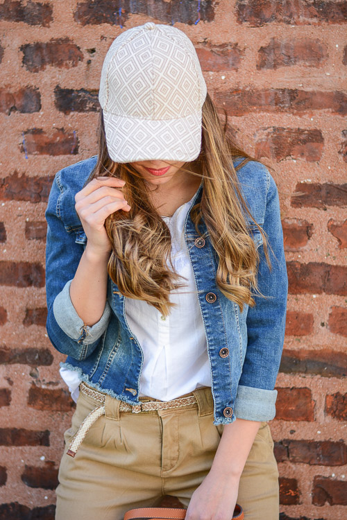 Wearing Embroidered Cap
