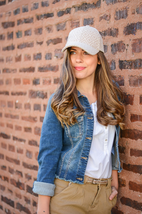 Wearing Embroidered Cap by Fashion Blogger