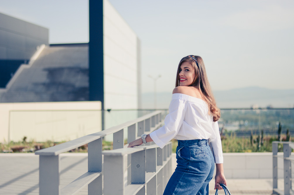 Off The Shoulder Top and Denim Culottes