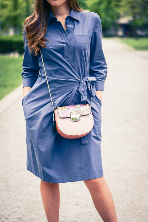 Shirt Dress and Furla Handbag from MDL Group
