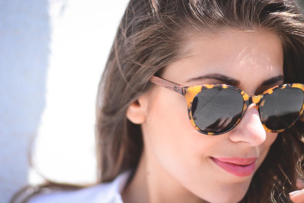 Denina Martin Wearing Clandestino Veneto Sun glasses