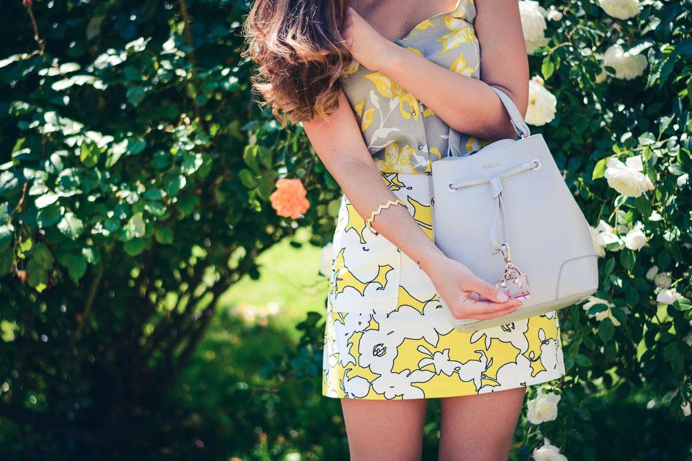 Benetton Floral Top Skirt Summer Outfit