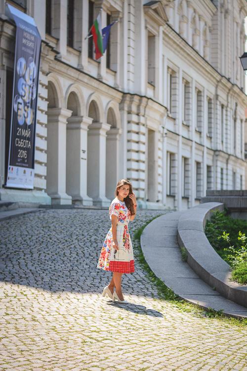 Denina Martin Wearing Florals Summer Outfit Liu Jo