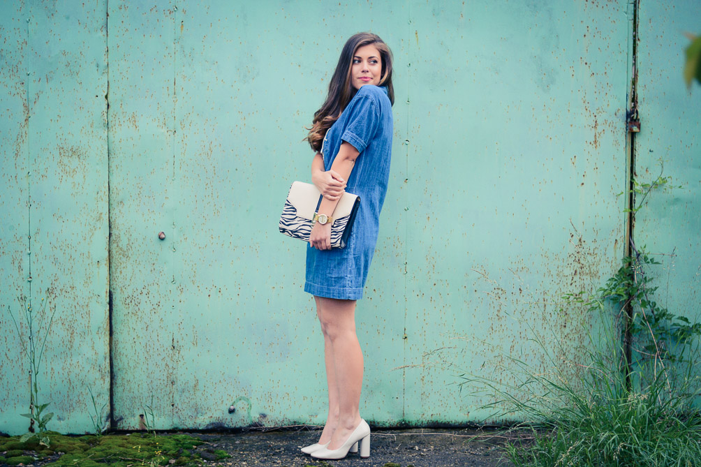 Lace Up Denim Dress Debenhams and Denina Martin