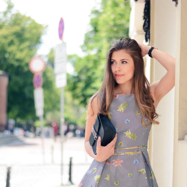 Denina Martin Wearing Beautiful Bell Dress