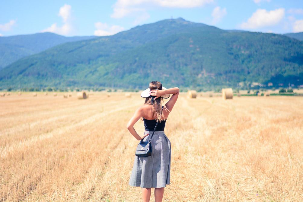 Fields Of Gold Gingham Skirt Hay Denina Martin