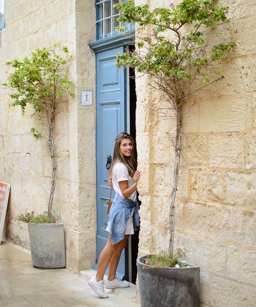 Denina Martin exploring Mdina
