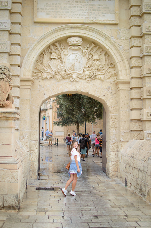 Entering old town of Mdina