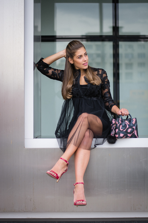 Bulgaria Mall Denina Martin Wearing Liu Jo Tutu Dress